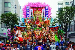 写真:三社大祭(山車吹上)