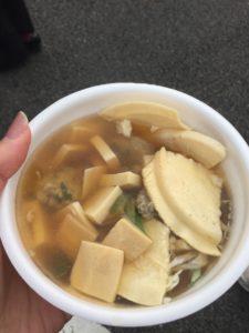 南部町の鍋「ウグイのつみれ入りせんべい汁」